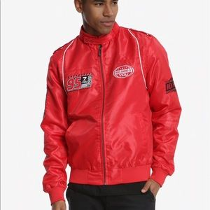Members Only Disney Pixar Cars Red Racer Jacket Md